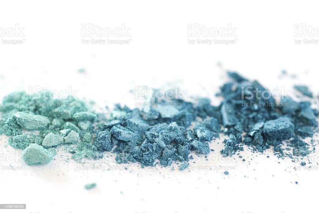 blue eyeshadows on white stock photo