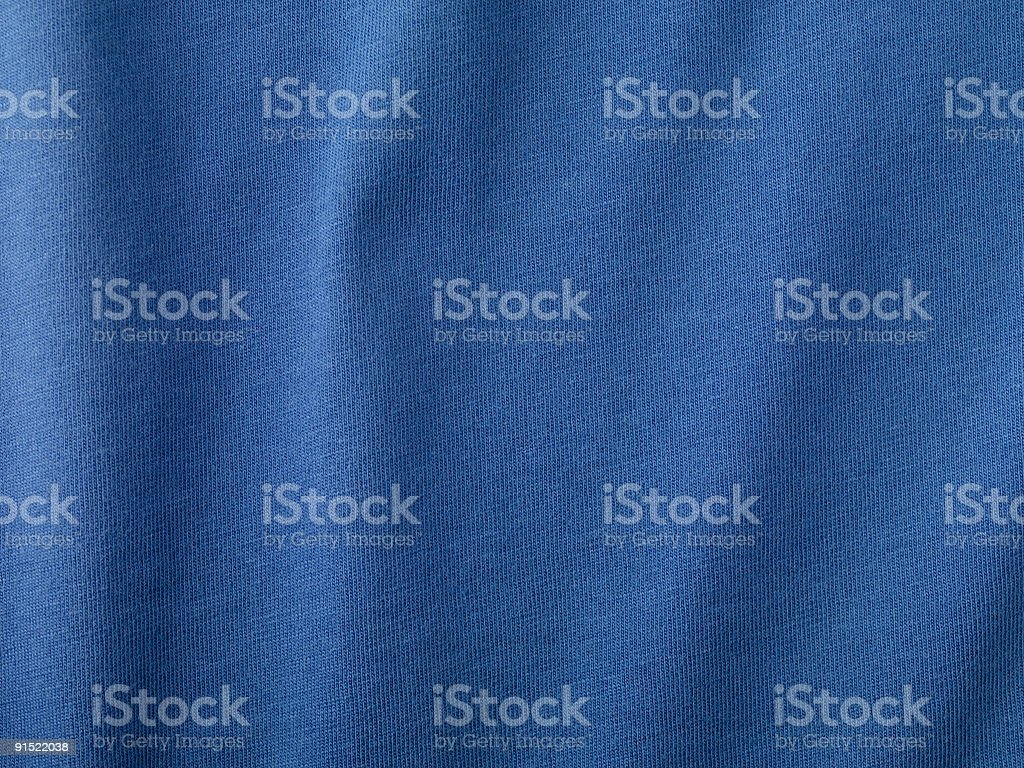 Blue Fabric Detail stock photo