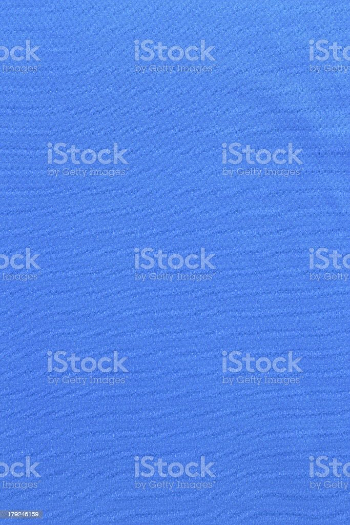 blue fabric from sport shirt royalty-free stock photo