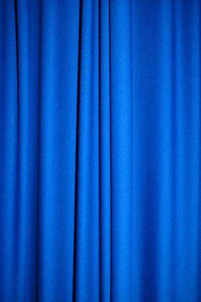 Blue fabric stock photo