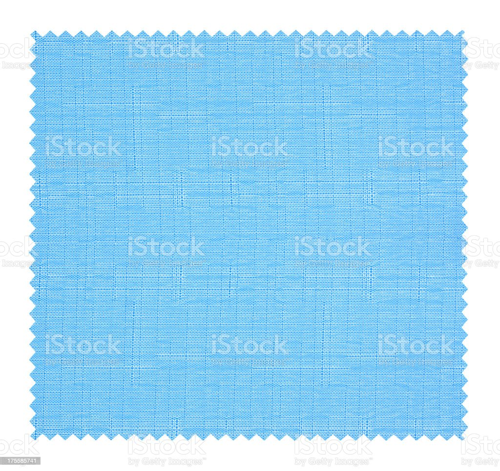 Blue Fabric Swatch background textured isolated stock photo