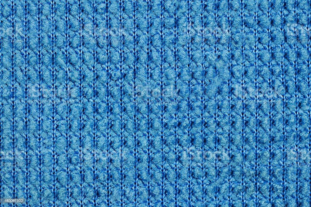 Blue fabric Texture. stock photo