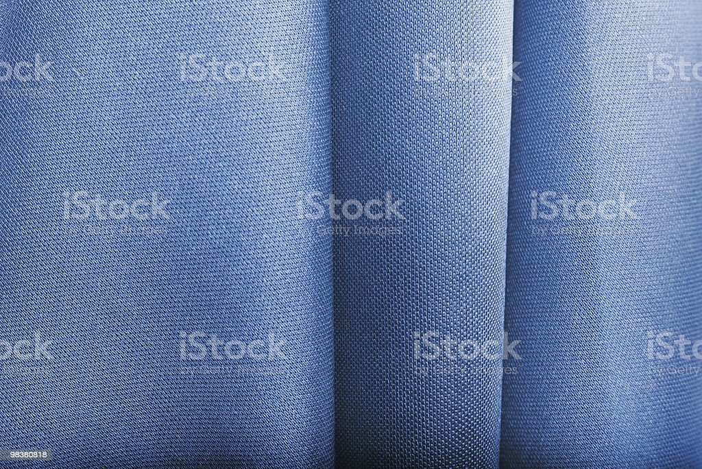 blue fabric texture with creases royalty-free stock photo