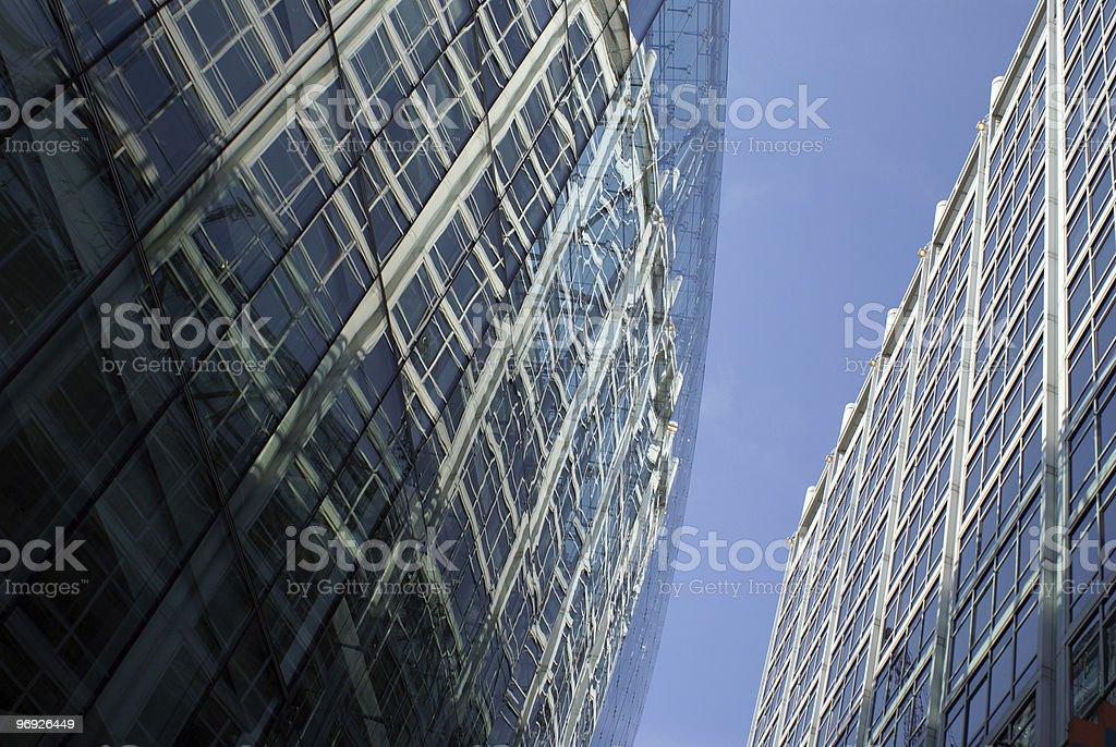 Blue facade royalty-free stock photo