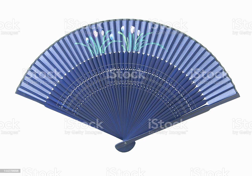 Blue Fan stock photo