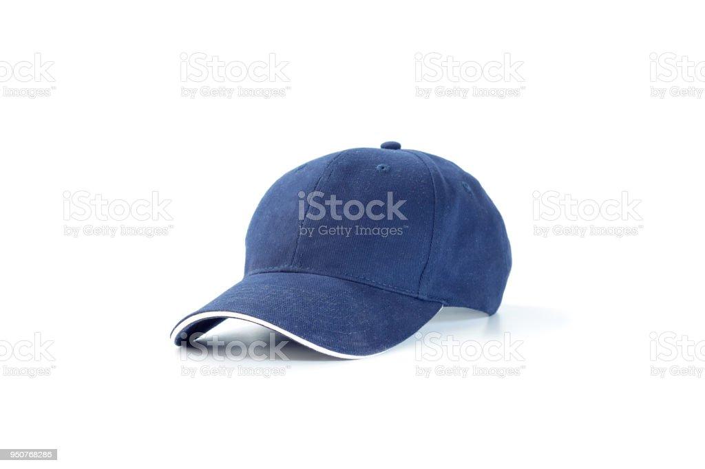 Blue fashion and baseball cap stock photo