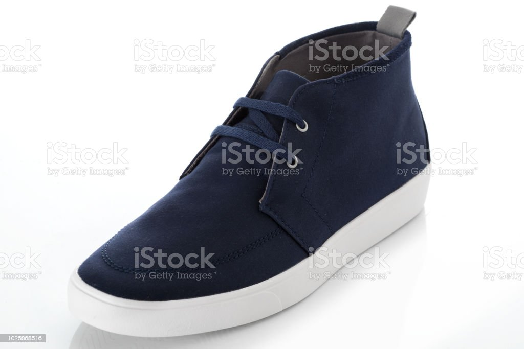 da5ce712210 Blue Fashion Mens Shoes With Side View Profile Isolated On White ...