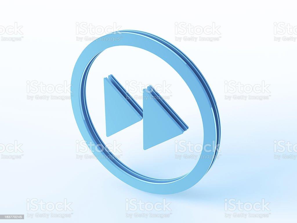 Blue Fast Forward Symbol stock photo