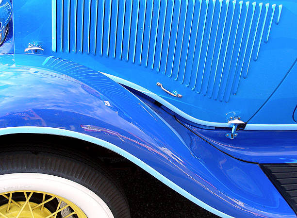 Blu parafango - foto stock