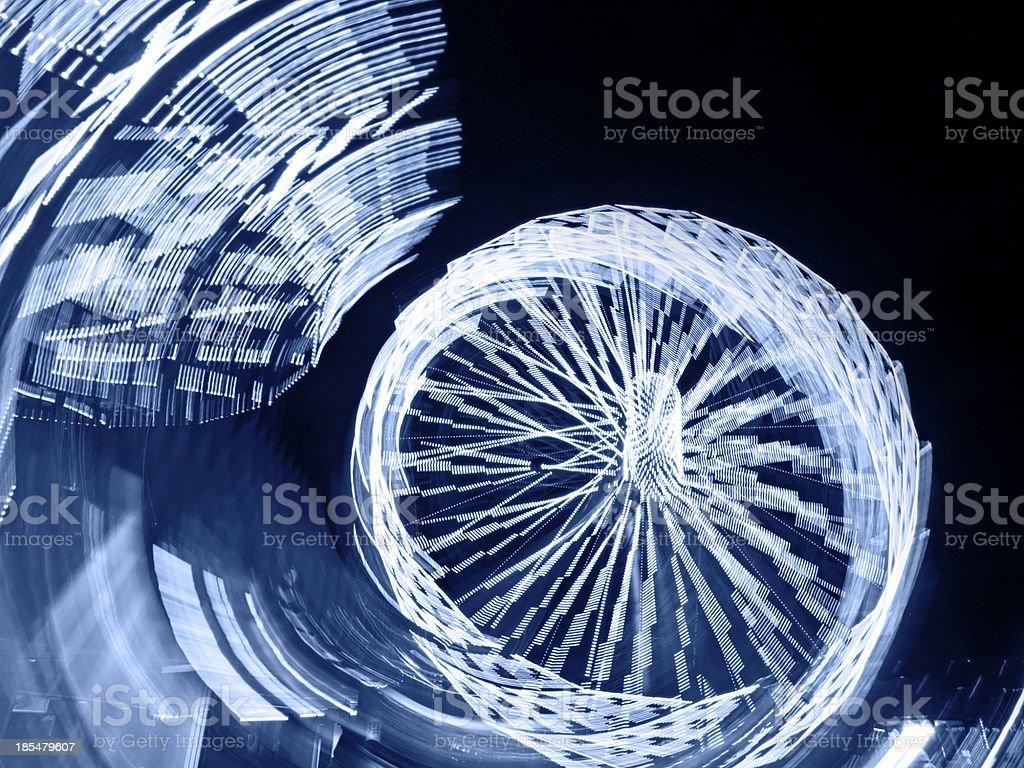 Blue Ferris Wheel at Night royalty-free stock photo