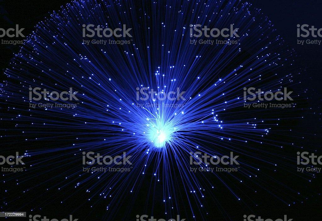 Blue Fiber Burst royalty-free stock photo