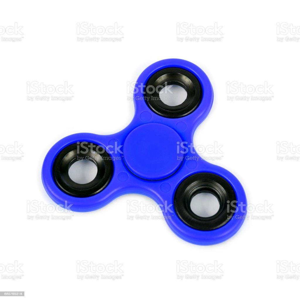 blue fidget spinner zbiór zdjęć royalty-free