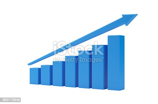 1014755036 istock photo Blue Finance Graph Isolated On White Background. 900173646