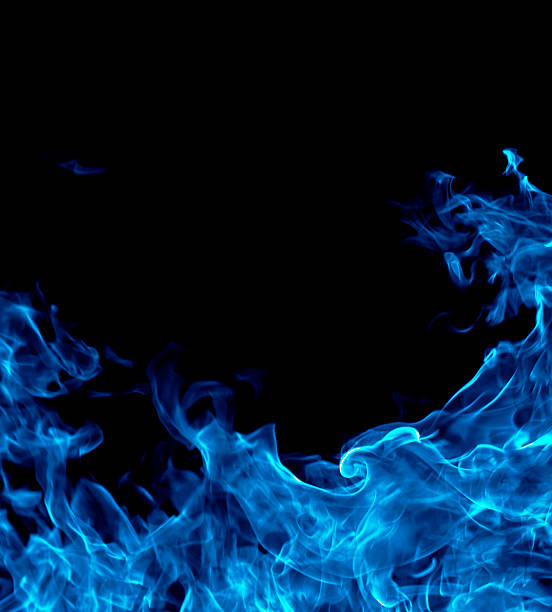 blue fire background - vlam stockfoto's en -beelden