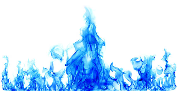 blue fire flames – Foto