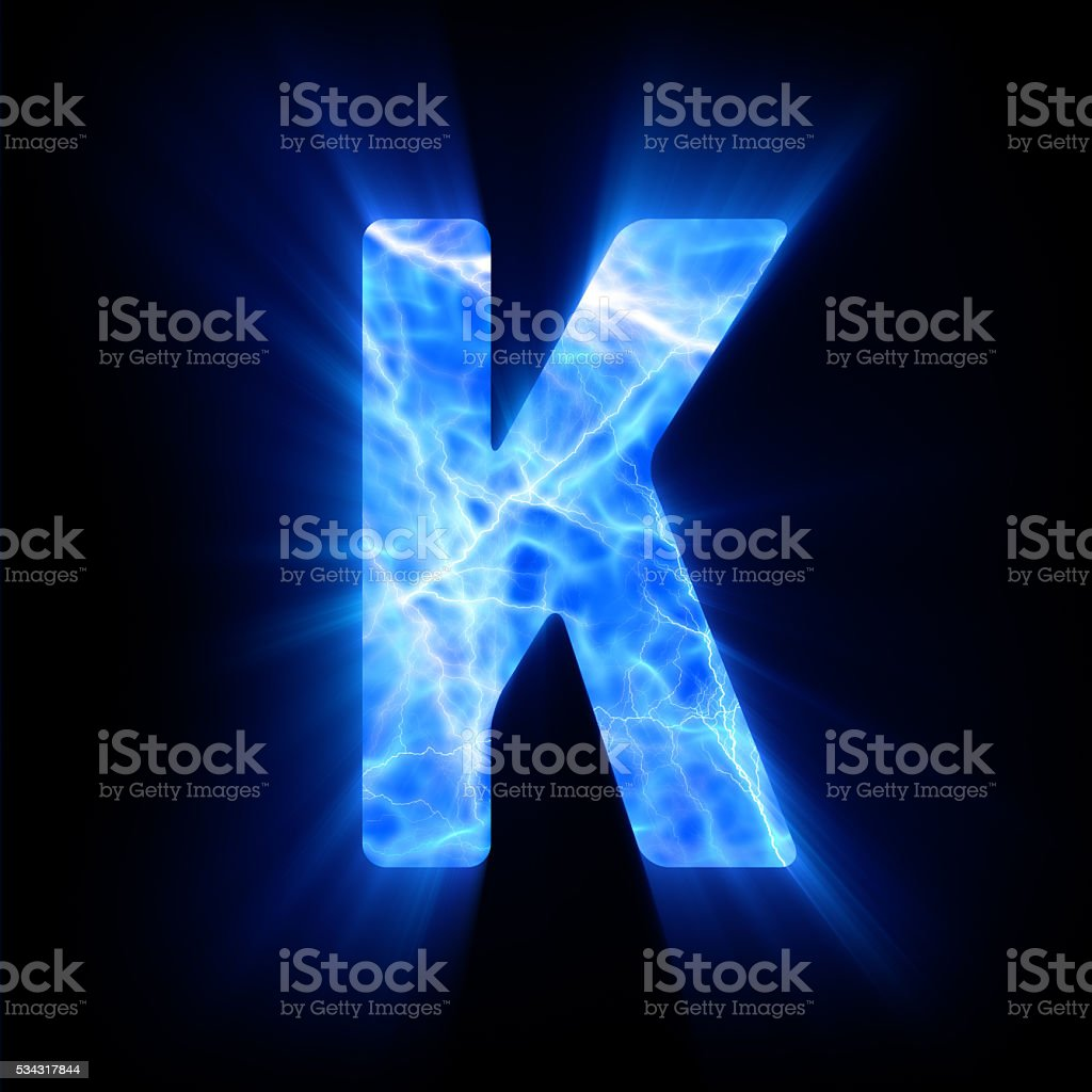Blue Fire Letter K Stock Photo More Pictures Of Alphabet Istock