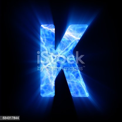 blue fire letter k stock photo | istock