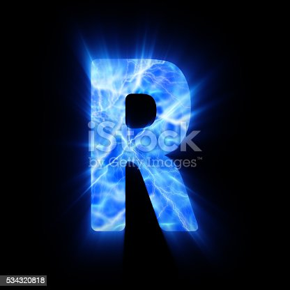 blue fire letter r stock photo | istock