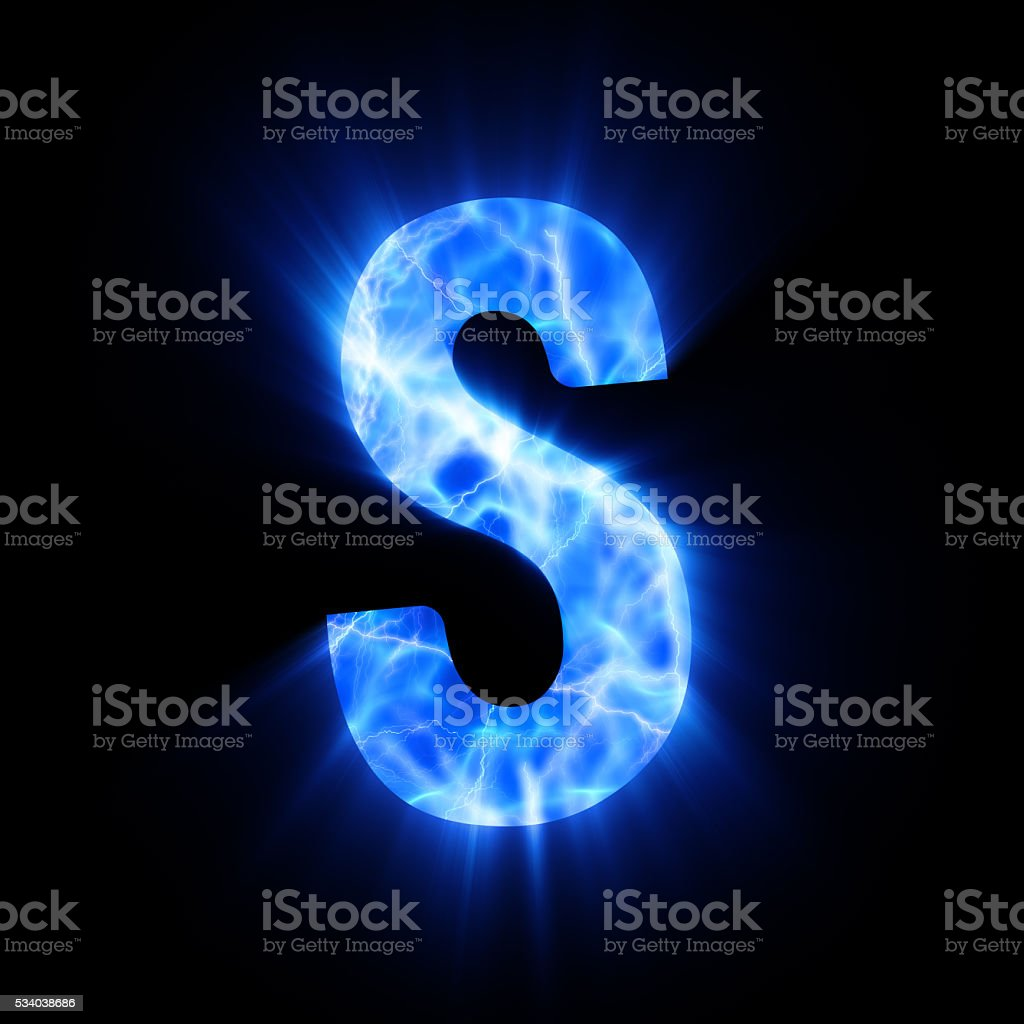 Blue Fire Letter S Stock Photo More Pictures Of Alphabet Istock