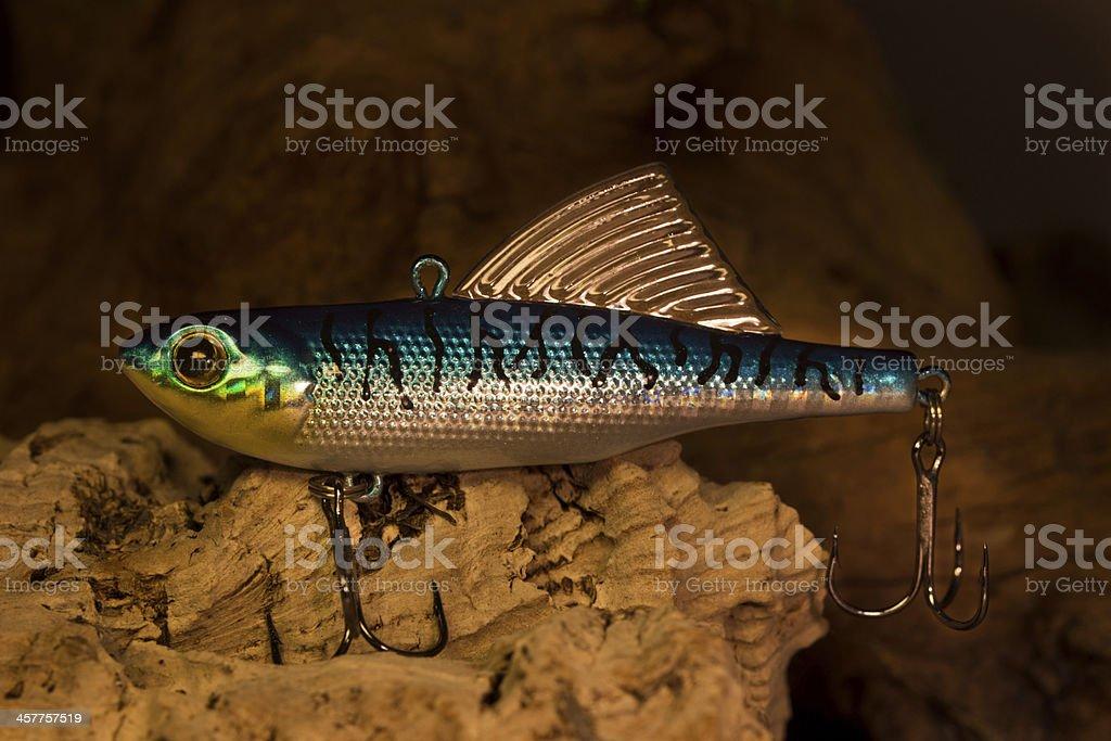 Blue fishing bait stock photo