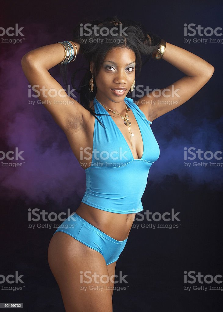 Blue fitness royalty-free stock photo