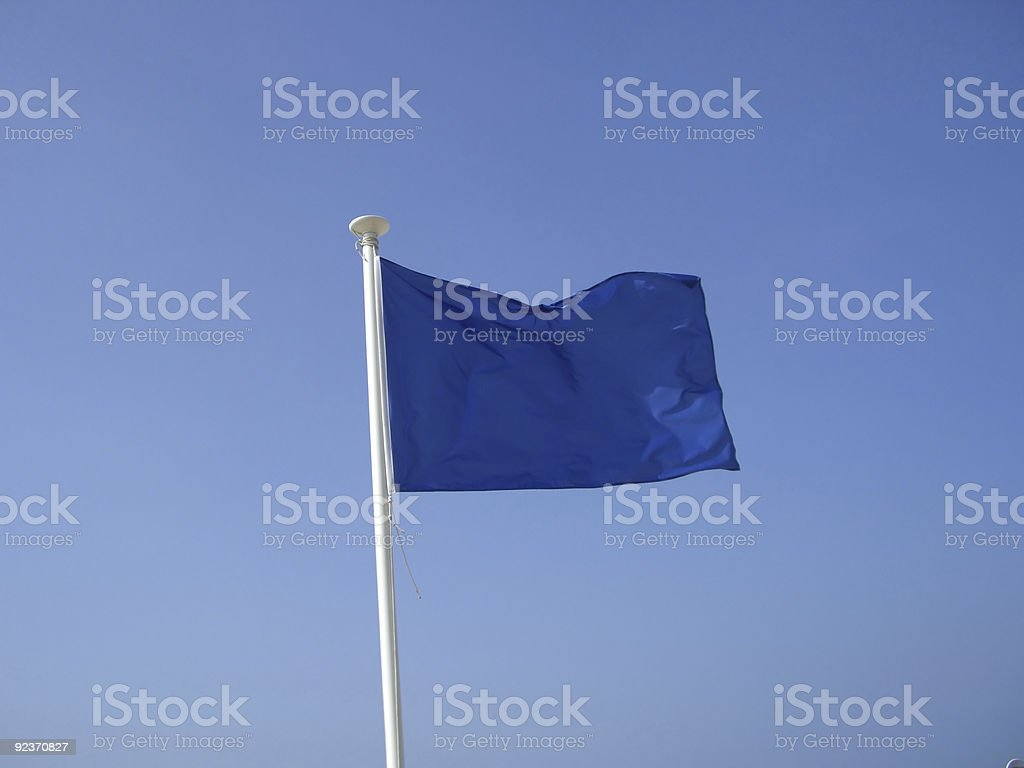 Blue Flag - Good Water Quality royalty-free stock photo