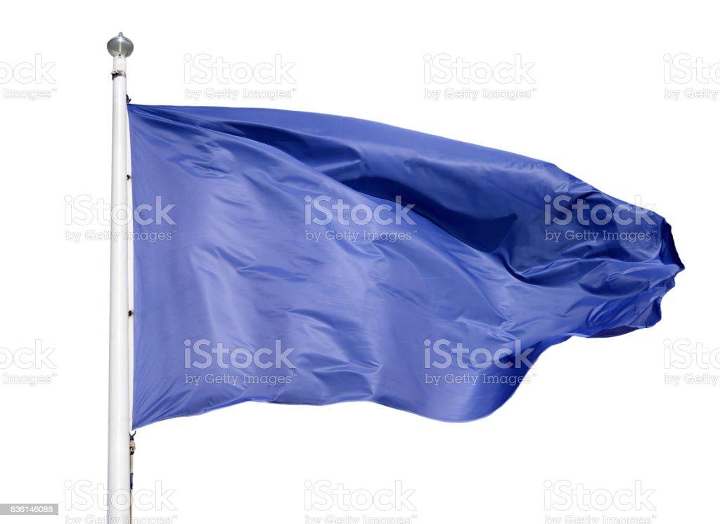 Blue flag isolated stock photo