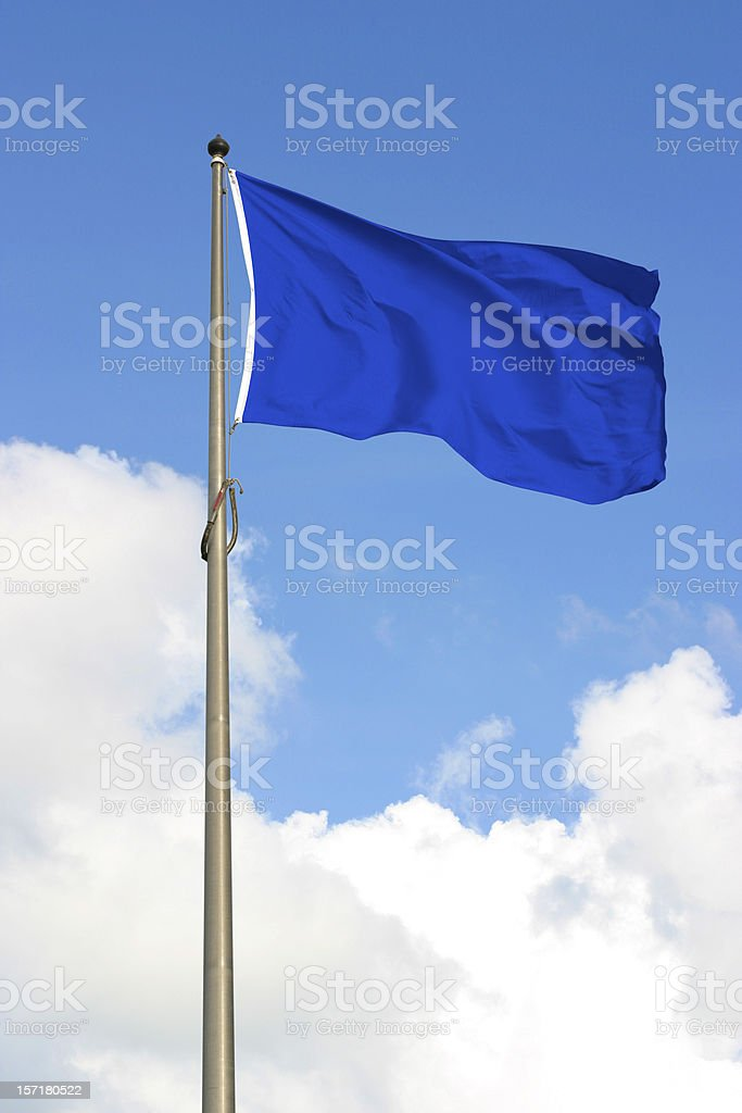 Blue Flag royalty-free stock photo