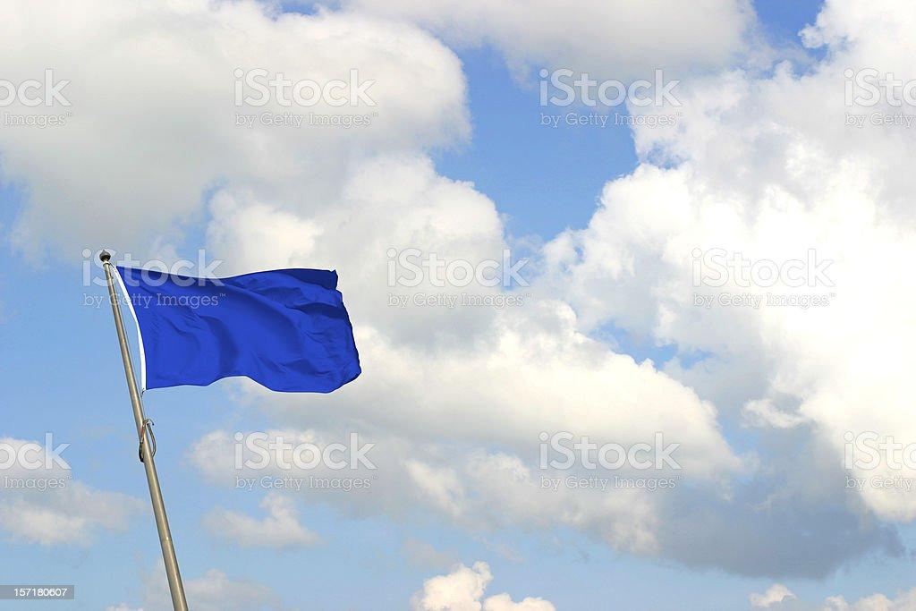 Blue Flag stock photo
