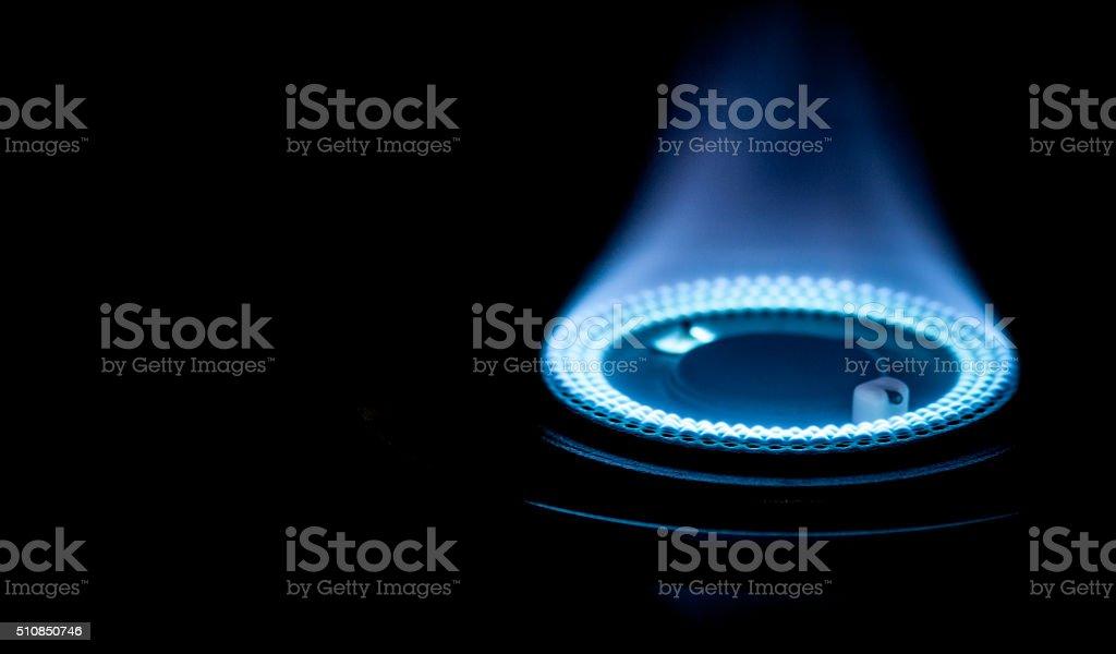 Blaue Flammen von Platten-Stock-Bilder – Foto
