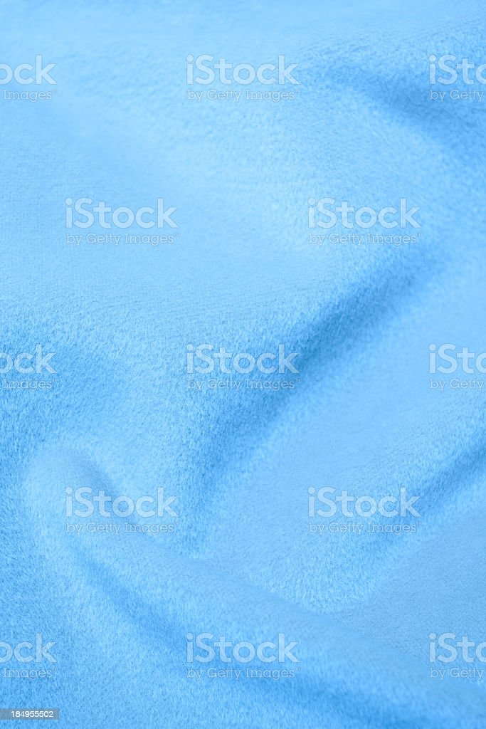Blue flannel blanket textile background textured stock photo