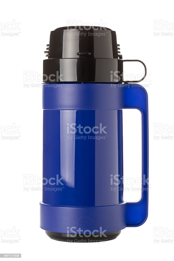 Blue Flask stock photo