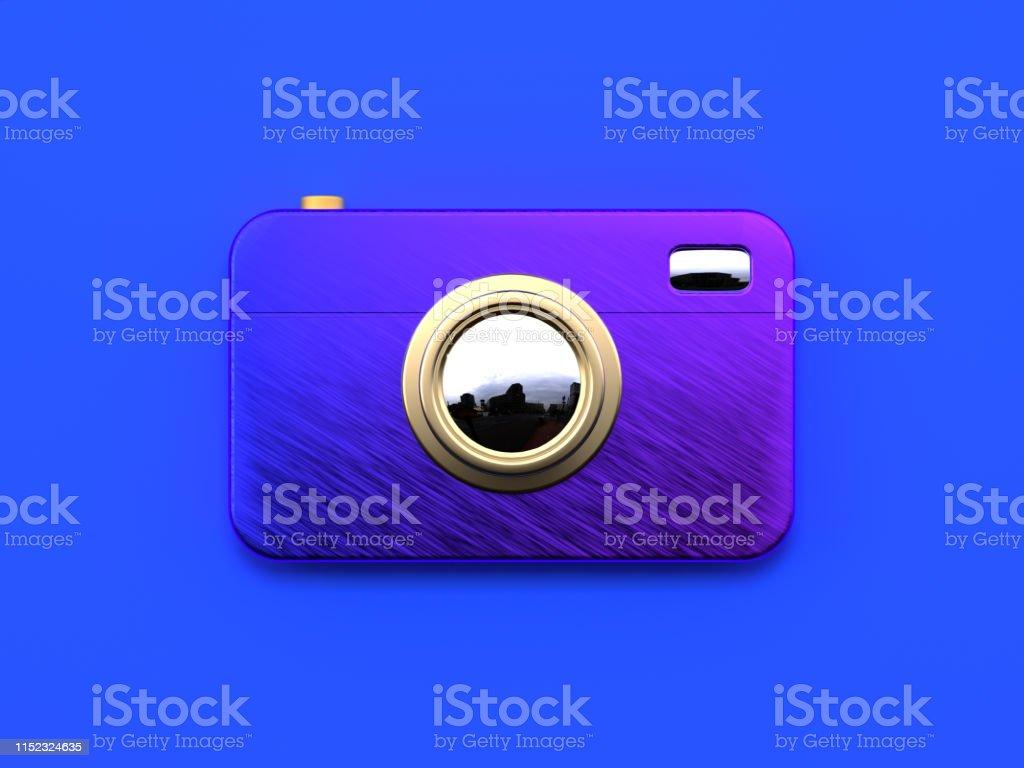 blue flat lay scene abstract purple gradient gold metallic object 3d...