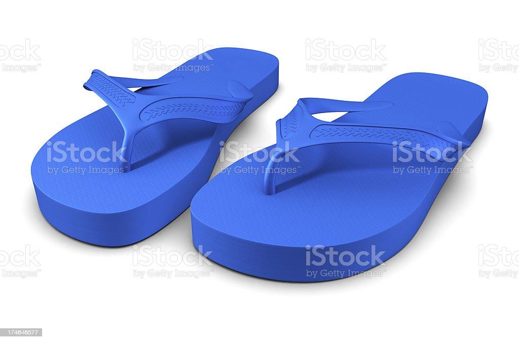 Blue Flip-Flops stock photo