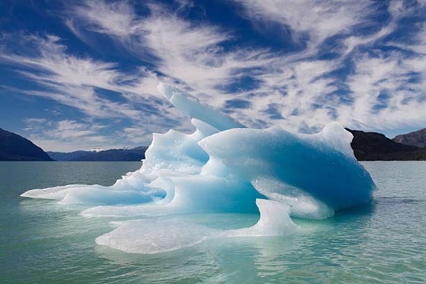 Blue Floating Iceberg stock photo