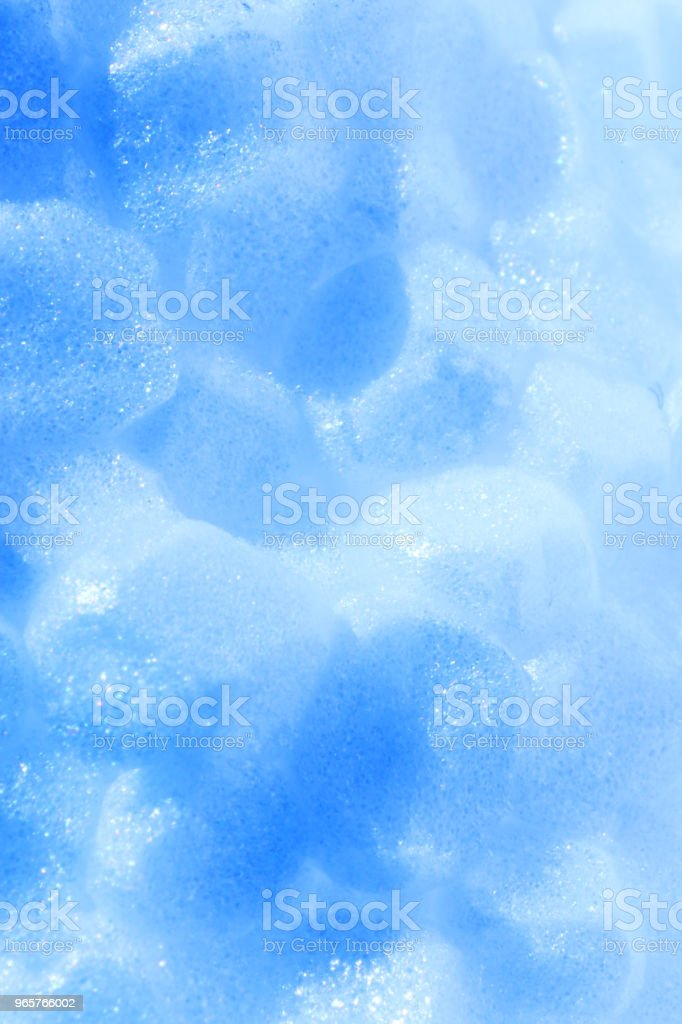 Blue Foam Plastic Texture. Abstract Styrofoam Background. Macro Closeup. - Royalty-free Abstract Stock Photo