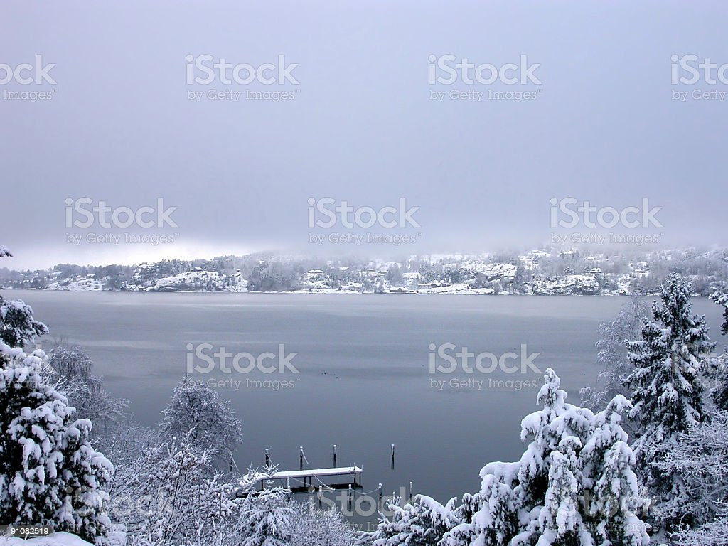 Blue fog stock photo