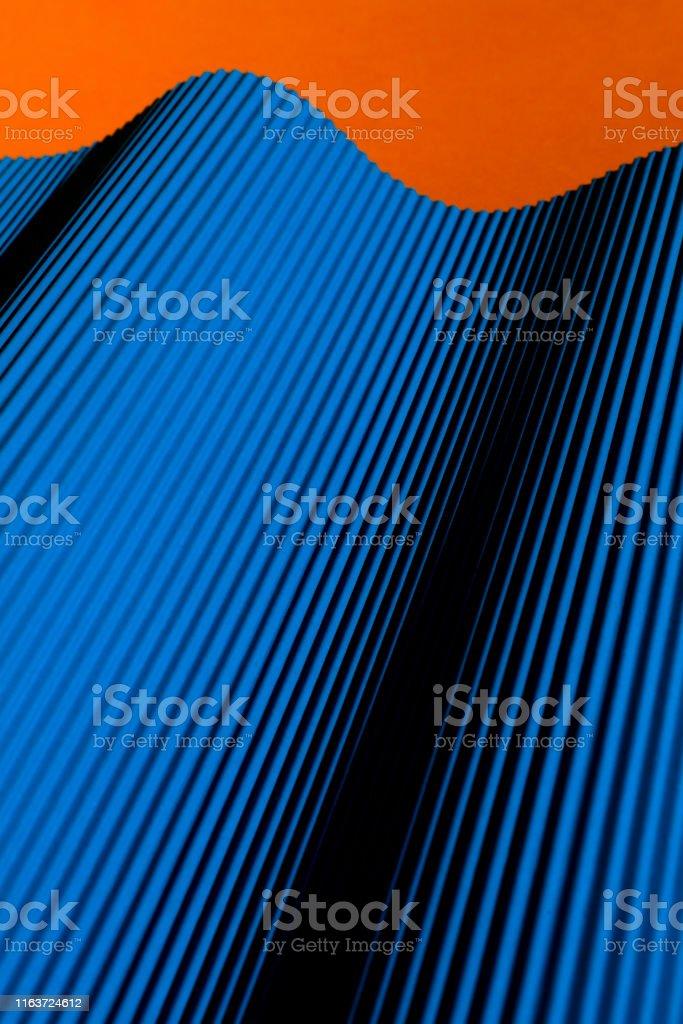 Blue Folded Paper Material Design
