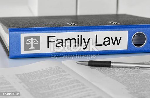 istock Blue folder with the label Family Law 474850012