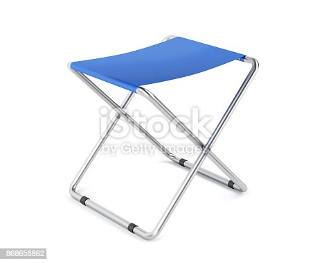 istock Blue folding stool 868658862