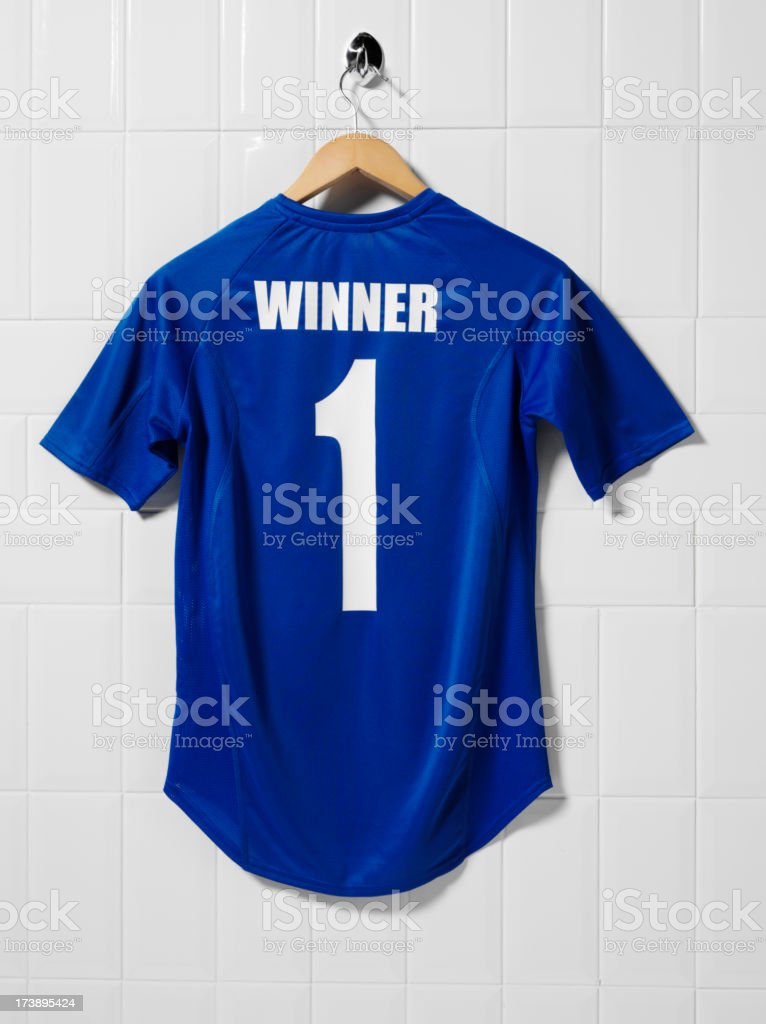 Blue Football Shirt royalty-free stock photo