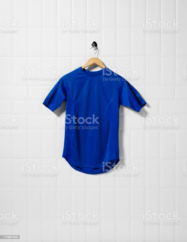 Blue Football Shirt stock photo