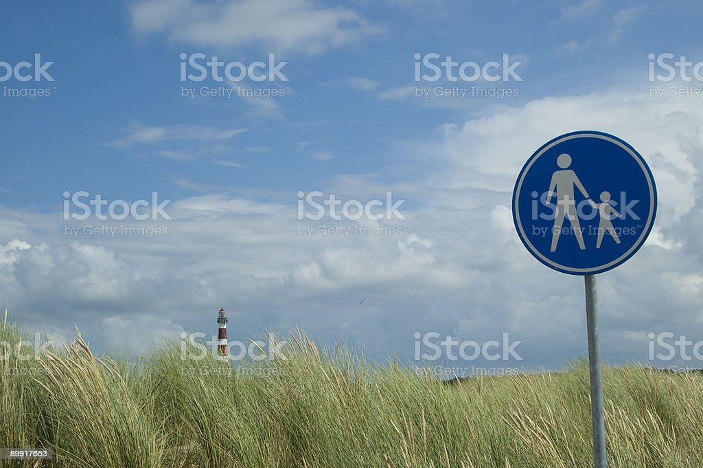 Blue footpath sign. royalty-free stock photo