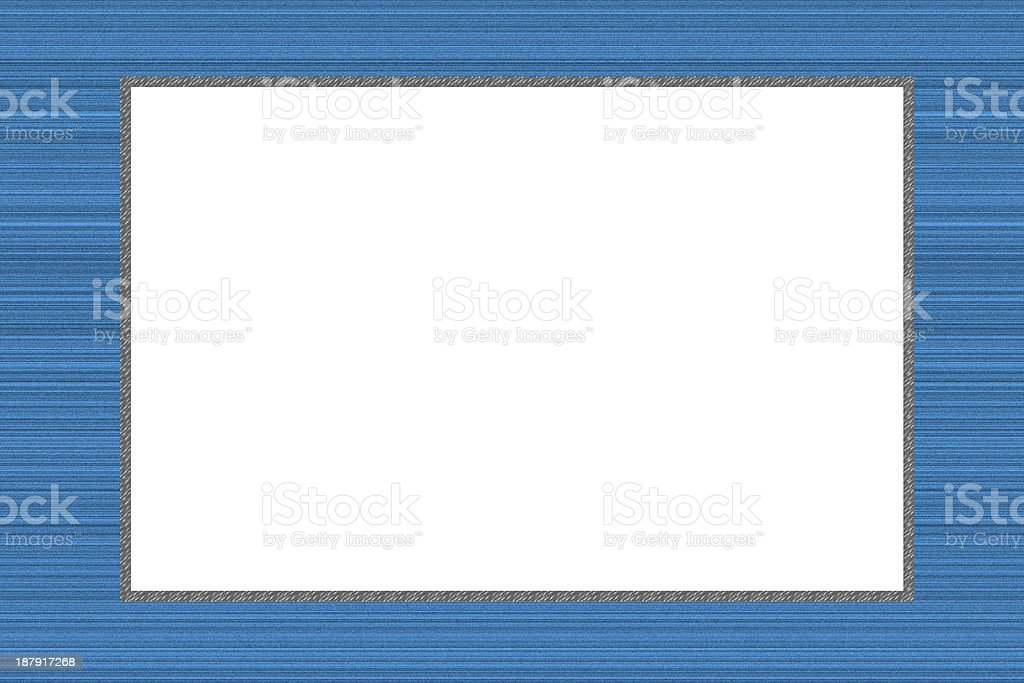 Blue Frame color design for Picture. royalty-free stock photo