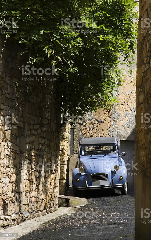 Blue French Car royalty-free stock photo