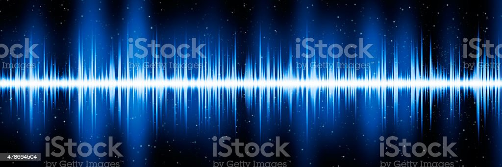 Blue frequency diagram stock photo