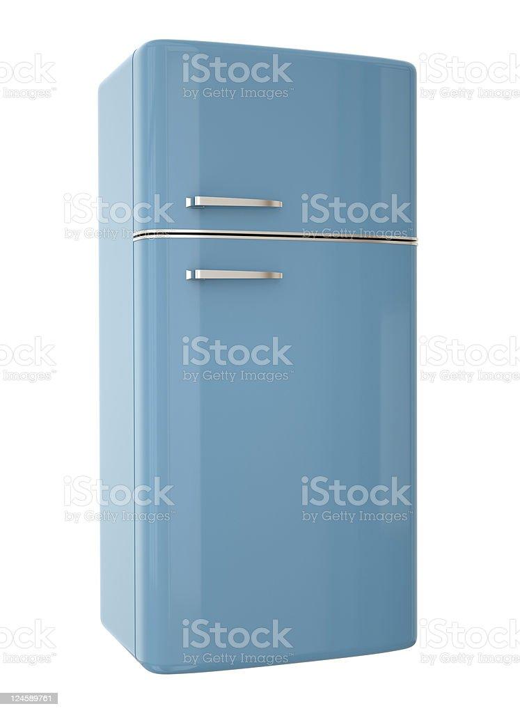 Blue Kühlschrank, retro Kühlschrank – Foto