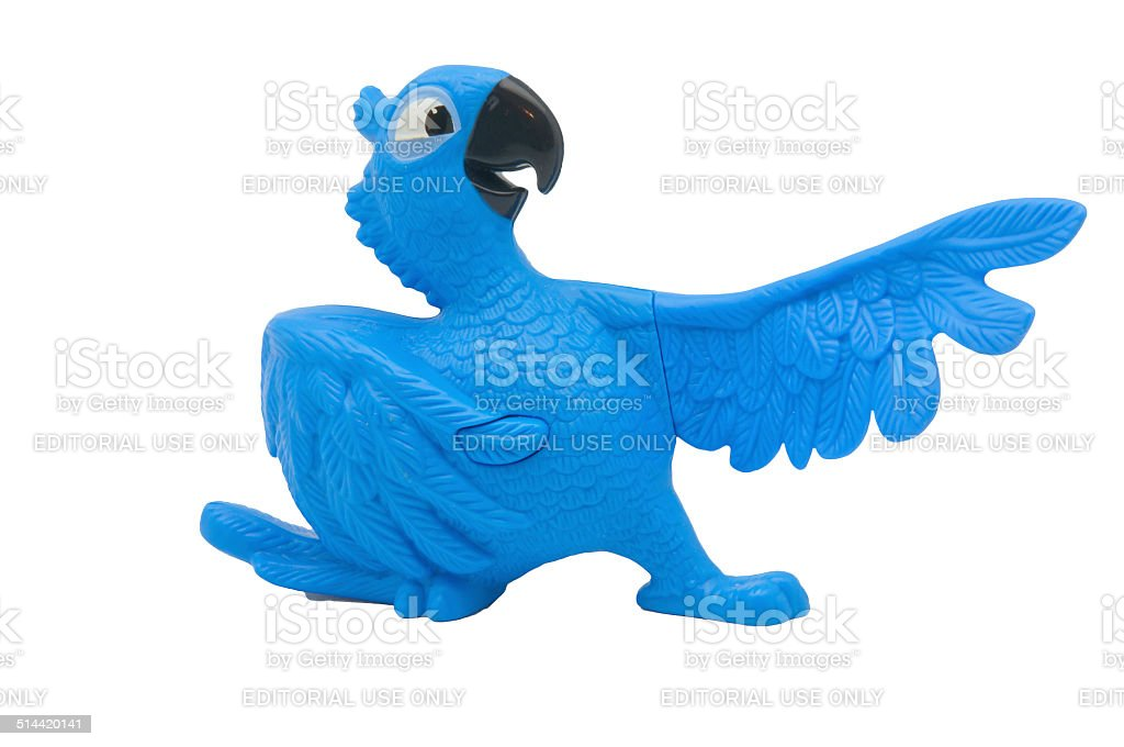 Blue from the movie Rio stock photo