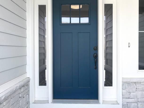 Blue Front Door blue door front door stock pictures, royalty-free photos & images