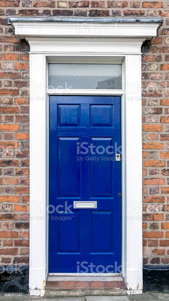 Blue Front Door stock photo